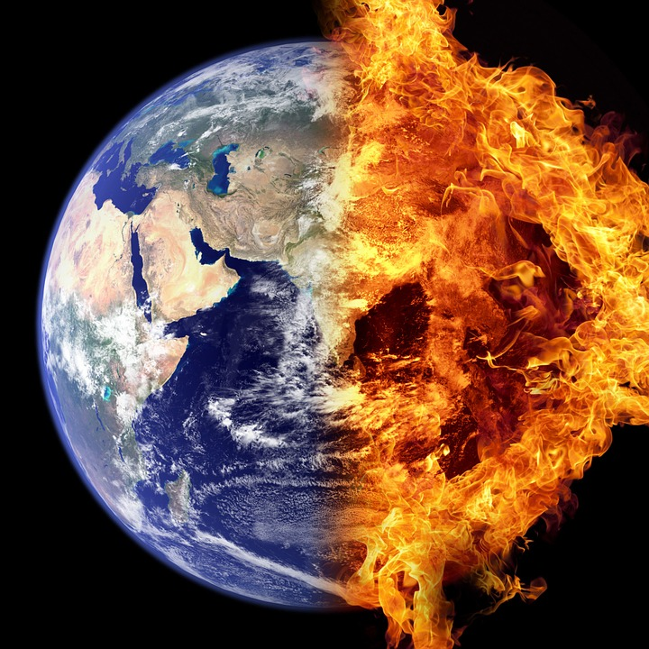 World on fire climate change 2