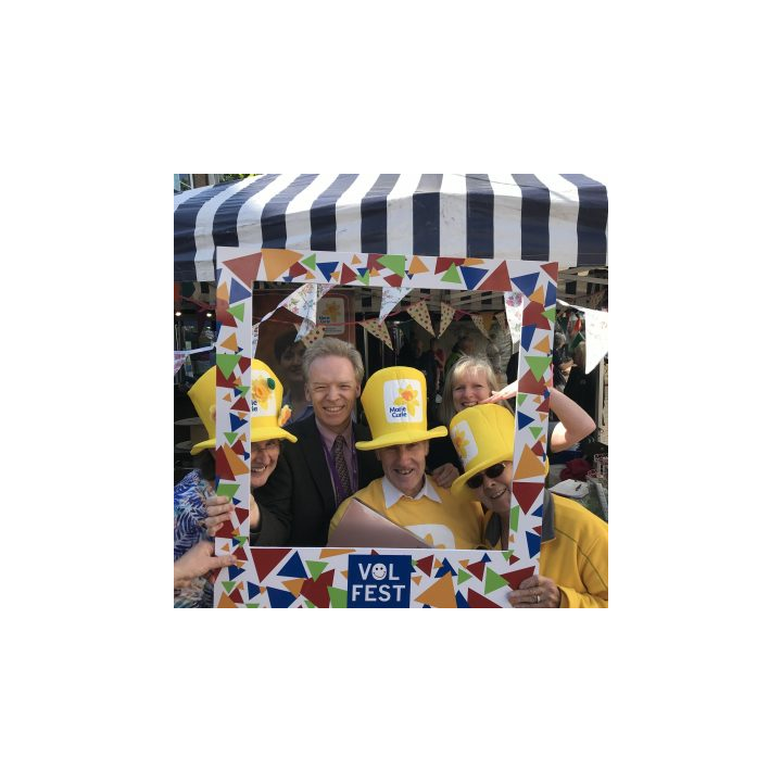 Stephen Robinson thanks local Marie Curie fundraisers - Summer 2019 Volunteers Festival (Chelmsford CVS)