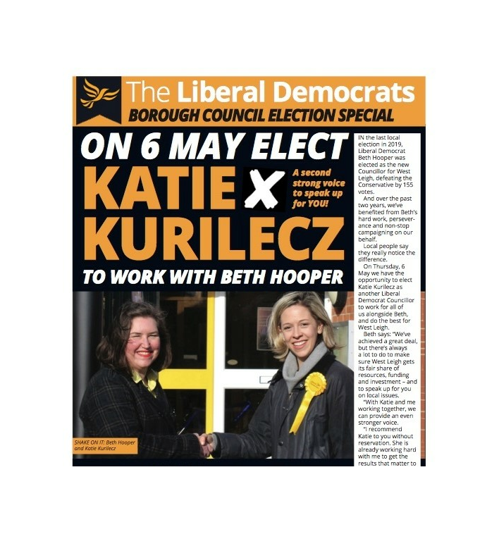 West Leigh election address May 2021 ()